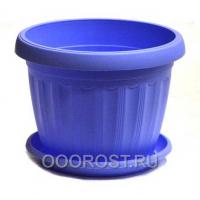 Горшок Терра d10 голубой