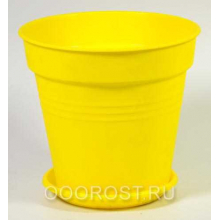 Горшок Глория с поддоном 23,1*22,1 темно-желтый