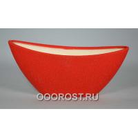 Кашпо Лодочка  (шелк красный)  1,8л, L28см