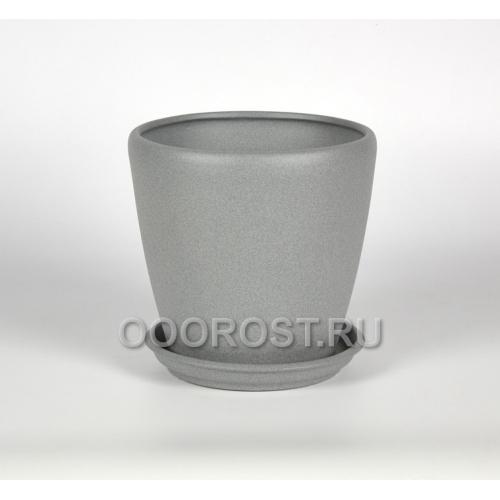 Горшок Грация №4 (крошка металлик) 1.2л, d13.5см