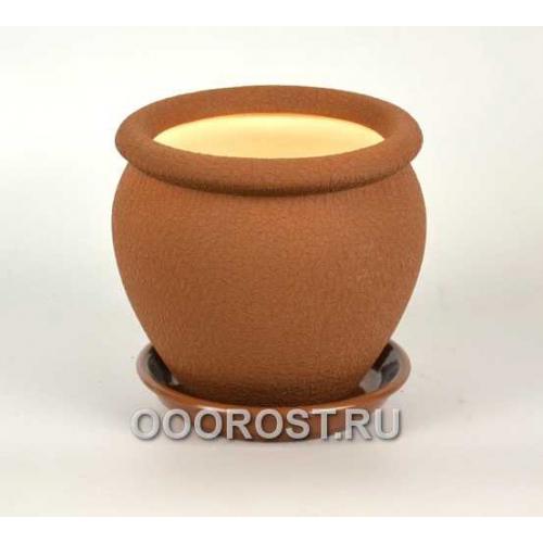 Горшок Вьетнам №4 (шелк молочный шоколад) 1,5л, d17см