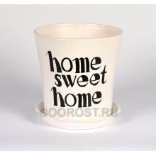 Горшок Вуаль 1,0л (глянец белый SWEET HOME) d14,5, h14см