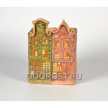 Керамическое кашпо домик Нидерланды № 8 высота 27см, ширина 19*13см, 4л