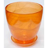 Горшок стеклянный №1 с поддоном крашеный Оранжевый