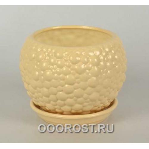 Горшок Шар №2 BUBBLE крем-брюле 1,4л d16см
