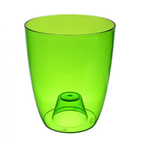 Кашпо Орхидея D16см зелено-прозрачное