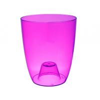 Кашпо Орхидея D12,6см, H15,1см фиолетово-прозрачное