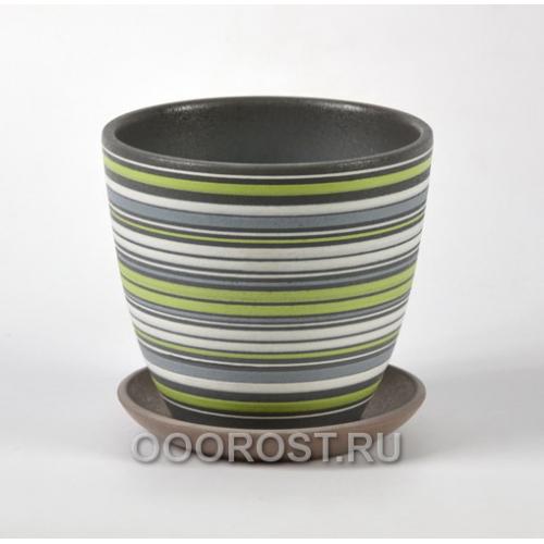Горшок для цветов Вектор зеленый крокус №4  d21см, 4,2л