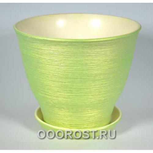 Горшок Виктор (салат.перламутр)  4л, d20, h18см