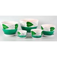 Комплект из 5 горшков Кувшинка-Венок зеленый D23, 20, 17, 13.5, 10см