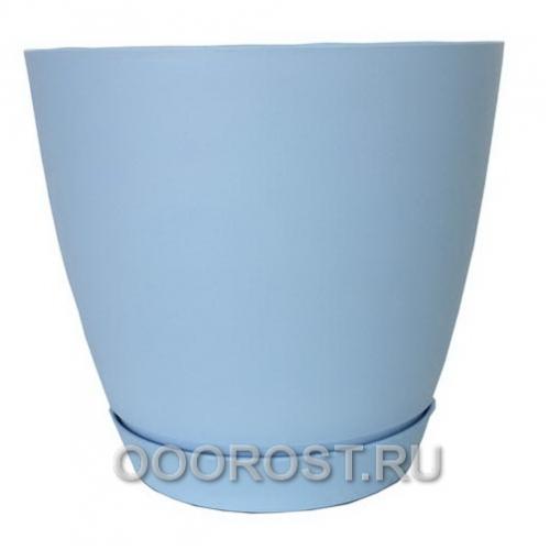 Горшок Камея 3,2л (голубой) d18,2см  h16,5см