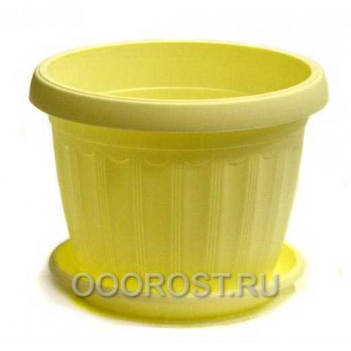 Горшок Терра d10 желтый