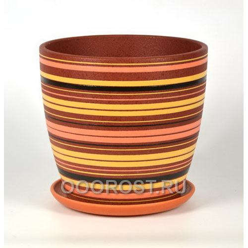 Горшок Вектор оранжевый крокус №6  d25,5см, h24см,  v8,1л