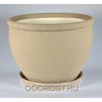 Керамический горшок Вьетнам №1 Шелк капучино 18л, d37,5см