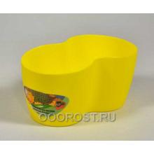 Кашпо кактусник на 2 места темно-желтый