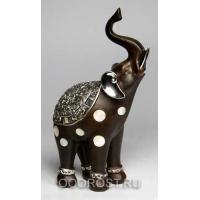 Фигурка Слон с поднятым хоботом h 24 см