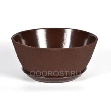 Горшок Бонсайница 5,5л шелк шоколад  d31см, h13см
