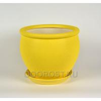 Горшок Вьетнам №2 желтый шелк 10л, d30см