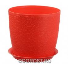 Кашпо Верона-М с поддоном D14см   красный