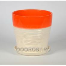 Горшок Мармелад оранжевый тополь №4  d18см, 3,2л