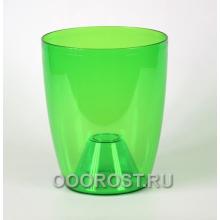 Кашпо Орхидея 20*24 зеленый-прозрачный