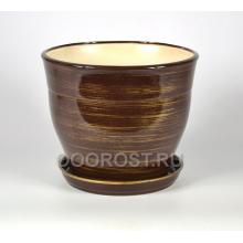 Горшок Флорис №1 (шоколадно-золото) 12,3л, d30см, h26см