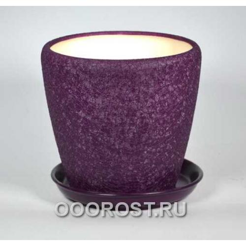 Горшок Грация №2 (шелк фиолет) 4,5л d 20см