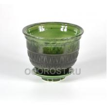 Горшок Астория №4 (зеленый) 1.3л, d16см, h11см