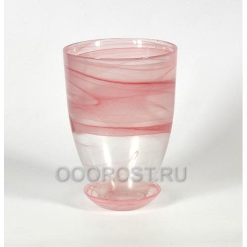 Горшок Тюльпан Розовый с поддоном d16см, h23см