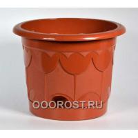 Горшок Тюльпан d10см коричневый с поддоном