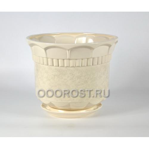 Горшок Фиеста №1 (белый) 20л, d35см, h30см