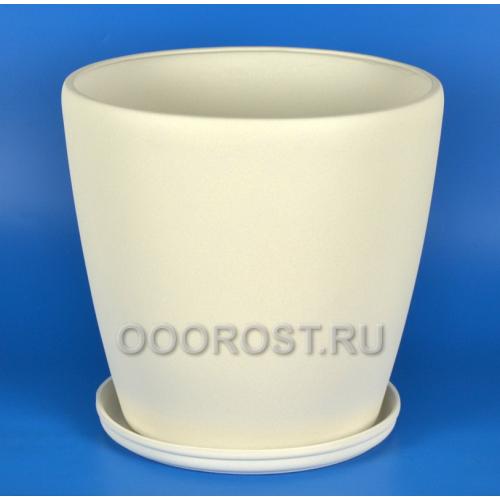 Керамический горшок Грация №0 крошка белый 30л, d40см, h39см