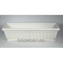 Ящик балконный мраморный с поддоном, L50см