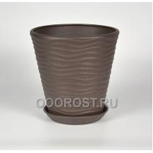 Горшок Новая волна 9л (крошка шоколад) d27.5см, h26.5см