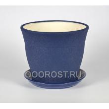 Горшок Флорис №1 (шелк синий) 12,3л, d30см, h26см