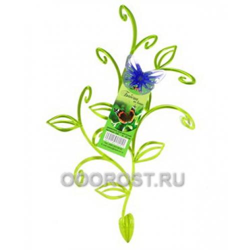 Держатель Бабочка на ветке h 37см зелено-сиреневый