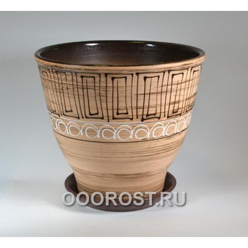 Керамический горшок Египет 25л, d39см, h35см