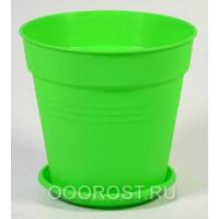 Горшок Глория с поддоном 14,5*14 светло-зеленый