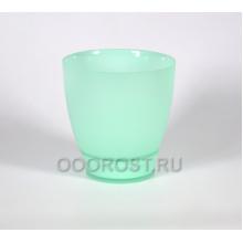 Горшок стеклянный НТ-4 мята матовый крашеный d18,5см, h16см (высота с поддоном 19,5см)