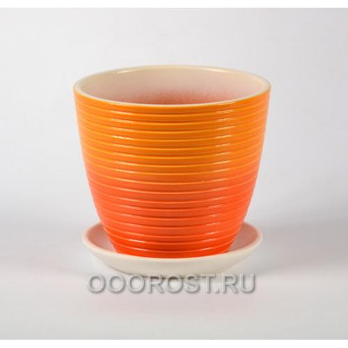Горшок для цветов Радуга оранжевый крокус №2  d15см, 1,4л