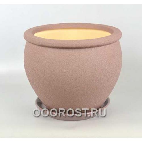 Керамический горшок Вьетнам №2 шелк аметист 10л, d30см
