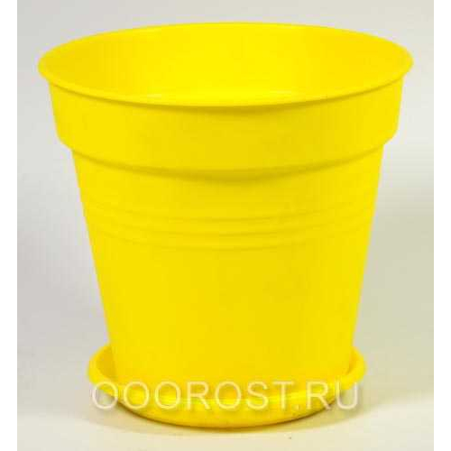 Горшок Глория с поддоном 11*10,2 темно-желтый