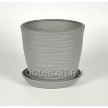 Горшок Грация-Волна №4 крошка металлик 1л, d13,5см