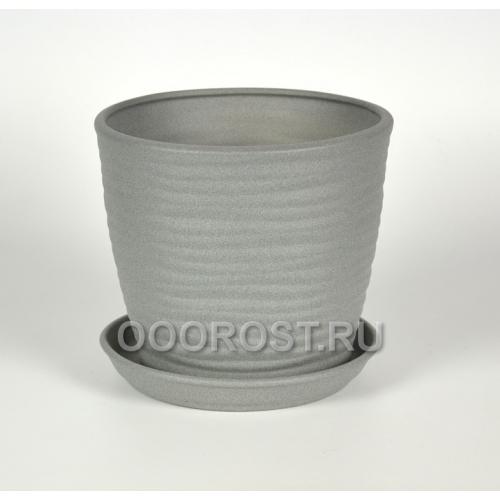 Горшок Грация-Волна №1 крошка металлик 7л, d25, h21см