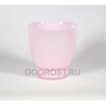 Стеклянный горшок НТ-4 розовый матовый крашеный d18,5см, h16см (высота с поддоном 19,5см)