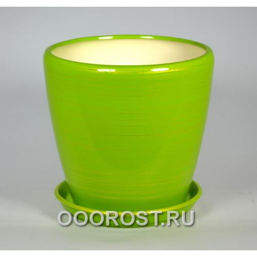 Горшок Грация №2 глянец салатно-золото 4,5л d 20см