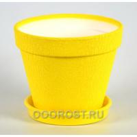 Горшок Конус 1,7л кожа желтый d17см, h14см