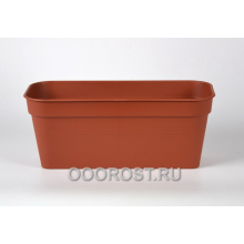 Ящик балконный Глория 40*18 коричневый