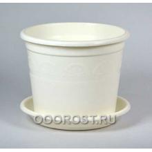 Горшок Астра 1,6л белый с поддоном