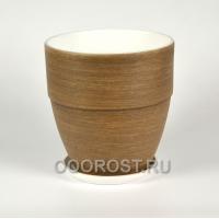 Керамический горшок Ироко коричневый №4 Готика борт d18см, h19см, v 2,6л